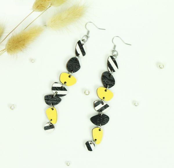 pitkät musta valko keltaiset